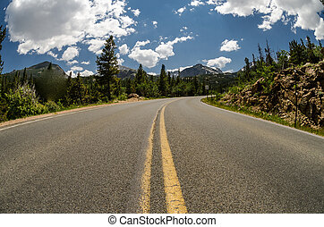 Bear Lake Road in Rocky Mountain National Park