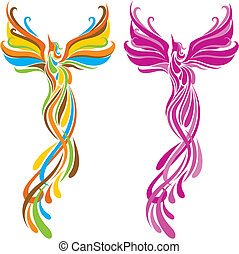 phoenix bird - fashion phoenix bird pattern design.