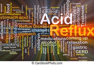 Acid reflux background concept glowing - Background concept...