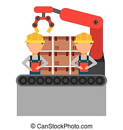 assembly line design, vector illustration eps10 graphic