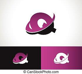 Swoosh Alphabet Q icon - Swoosh Alphabet logo icon with the...