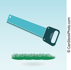 Metal saw with sharp teeth, razor sharp hacksaw Grass...