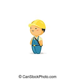 Maintenance Wo with a Screw Driver - Vector Cartoon of a...