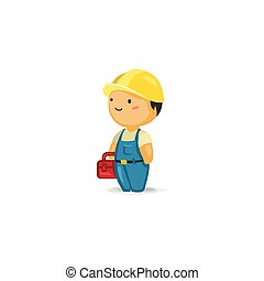Maintenance Worker with a Toolbox