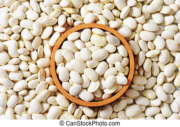 Lima beans - Bowl of raw Lima beans
