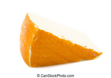 Port salut - French cheese isolated on a white background