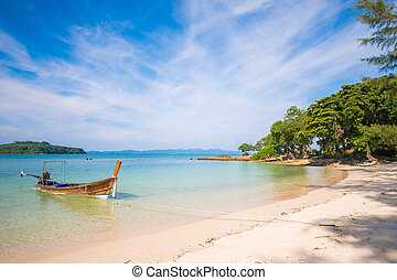 Naka Noi beautiful island in Phuket, Thailand, travel