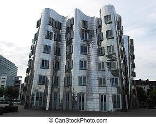 Modern architecture in Duesseldor in Germany (Deutschland)