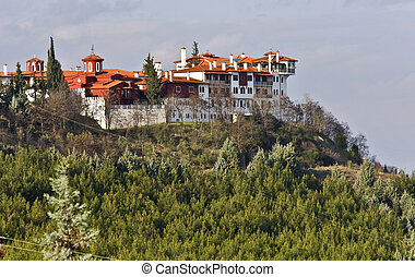 Saint Grigorios Palamas monastery at Koufalia city in Greece
