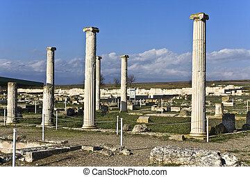 Ancient Pella at Macedonia, Greece, birthplace of Alexander...