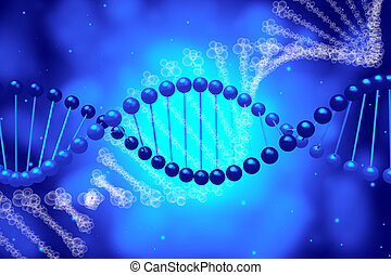 DNA - 3D, DNA, helix clip-art, illustration - great for...
