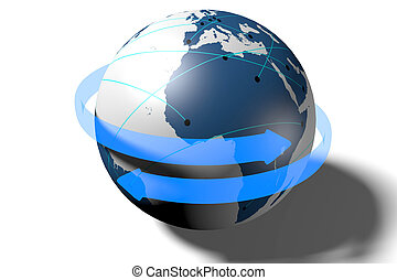 3D Earth/ world concept - 3D, Earth illustration/ clipart.