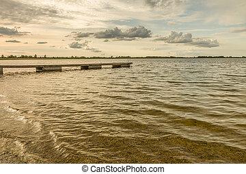 bridge in small lake