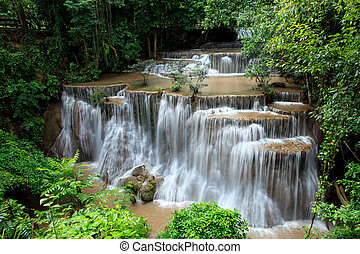 full form of hauy mae kamin water falls in deep forest...