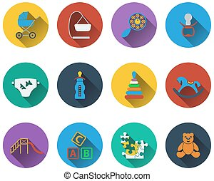 Set of baby icons