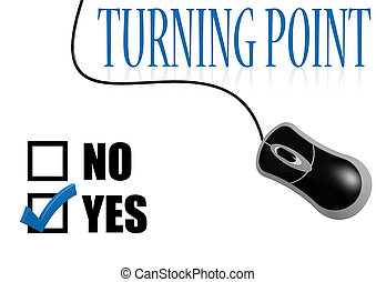 Turning point check mark image with hi-res rendered artwork...