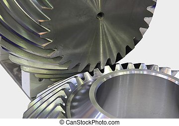 Helical bevel gear - Engage and transfer torque helical...