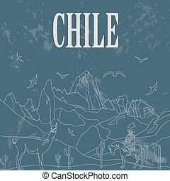 Chile infographics, statistical data, sights Vector...