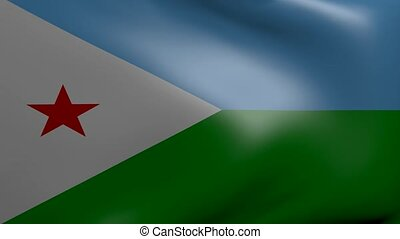 djibouti strong wind flag
