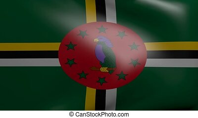 dominica strong wind flag