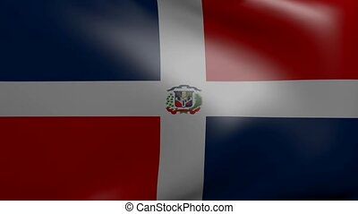 dominican strong wind flag
