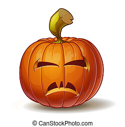 Pumpkins Vimpire 2 - Cartoon vector illustration of a...