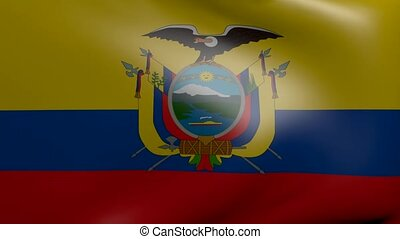 ecuador strong wind flag