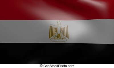 egypt strong wind flag