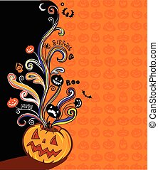 Halloween banner - Halloween illustration for banner and...