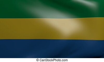 gabon strong wind flag