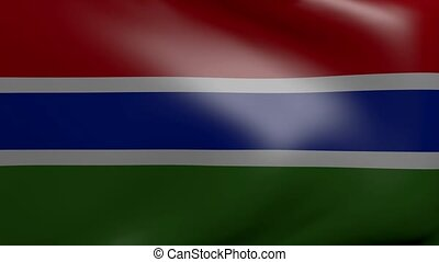 gambia strong wind flag