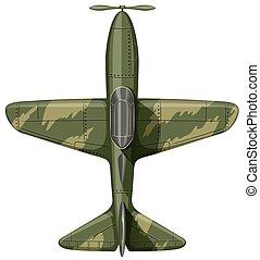 Airforce plane in green illustration