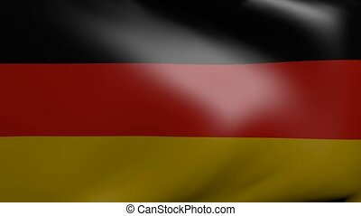 germany strong wind flag