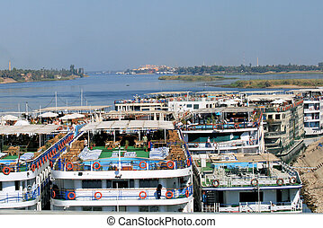 Cruise boats on the River Nile 4