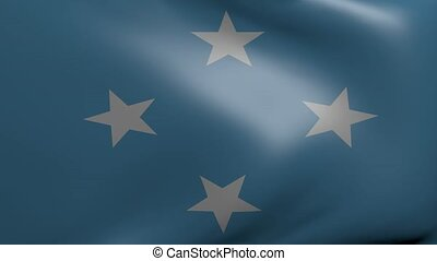 micronesia strong wind flag