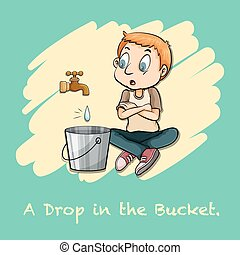 A drop in the bucket illustration