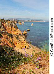 cliff coastline in Lagos, Algarve, Portugal