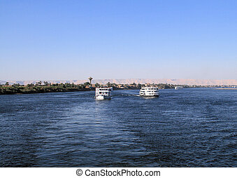 Cruise boats on the River Nile