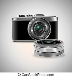 DSLR - odjects of digital camera and removable lens