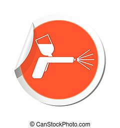 Spray gun icon Vector illustration