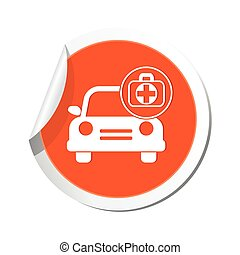 Car and medical icon with cross