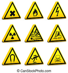 Safety Signs - Set01 - Safety signs on a white background....