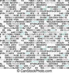 Security background with HEX-code - Vector illustration of...