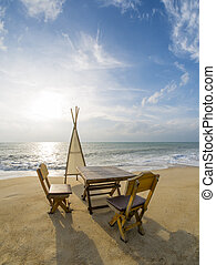 Dinning table on the beach - Dinning table on the tropical...