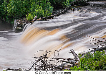 Tahquamenon Whitewater - Tannin-stained whitewater cascades...