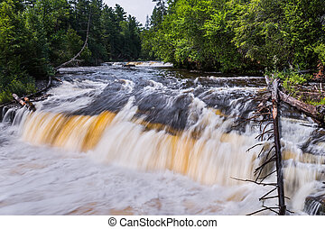 Lower Tahquamenon Falls - One of about five smaller...