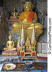 chancel of buddhist temple in Luang Prabang, Laos