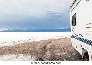 Bonneville Salt Flats - Motorhome traveling to Bonneville...