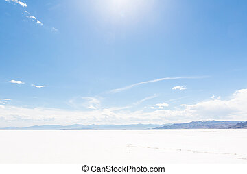 Bonneville Salt Flats - Hot Summer day at Bonneville Salt...