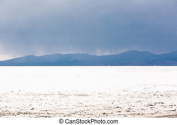 Bonneville Salt Flats - Summer evening at Bonneville Salt...